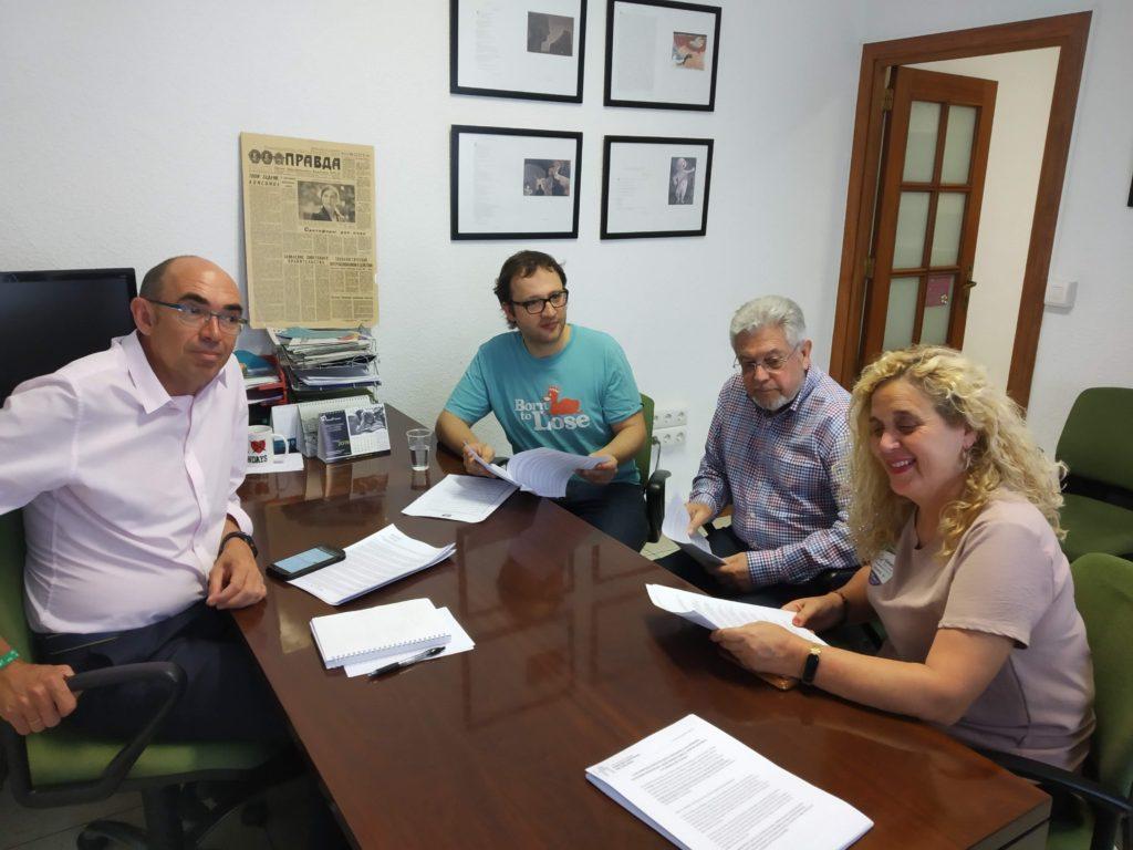 Reunión con los representantes de Adelante Málaga
